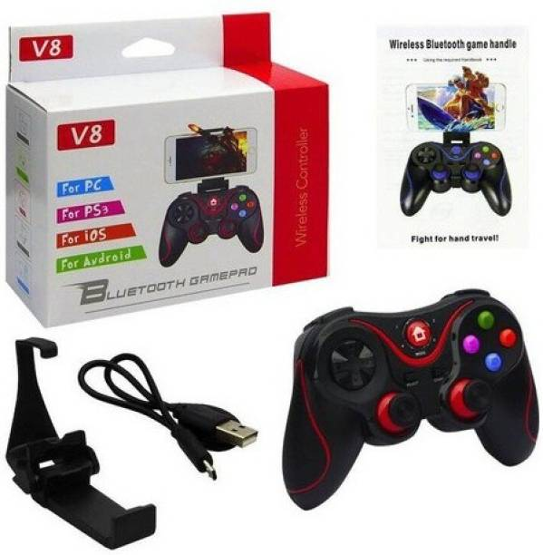 Clubics V8 Wireless Mobile Game Controller Compatible with IOS, Android, PC,PS3,TV (BLACK)  Motion Controller