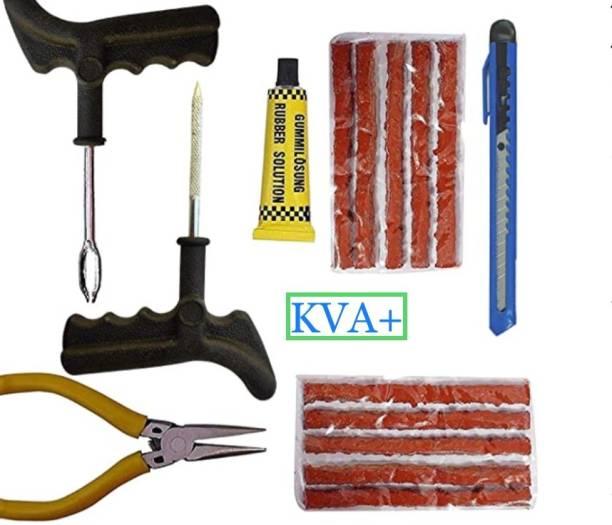 KVA PLUS KV+ 9 Tubeless Tyre Puncture Repair Kit Tubeless Tyre Puncture Repair Kit