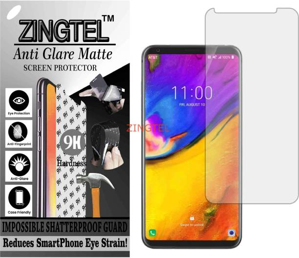 ZINGTEL Tempered Glass Guard for LG V35 PLUS THINQ (Matte Flexible Shatterproof)