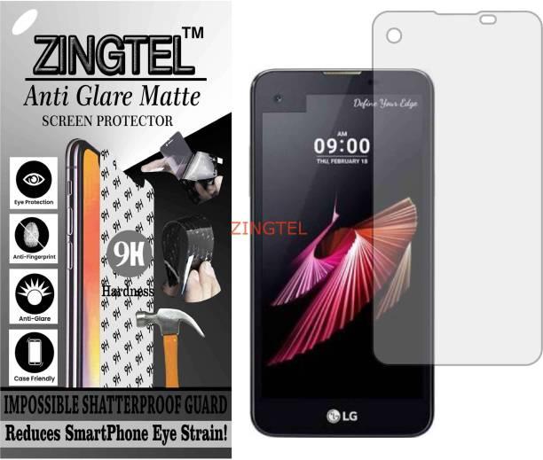 ZINGTEL Tempered Glass Guard for LG K500I (X SCREEN) (Matte Flexible Shatterproof)