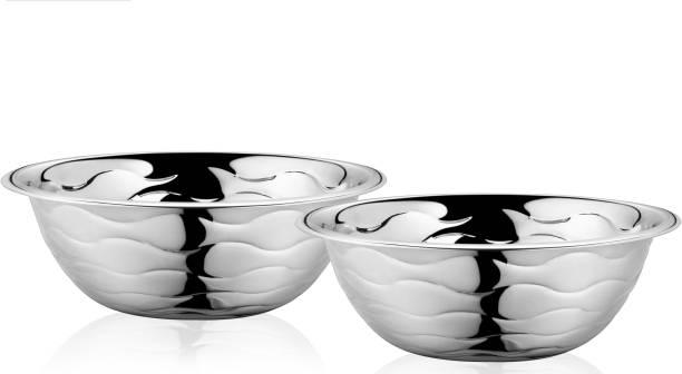 Classic Essentials Wave Serving Bowl Set of 2, 2200ml Bowl Serving Set
