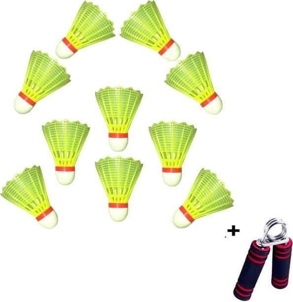 PANDK P&K Plastic Badminton Shuttlecock Plastic Shuttle  - Green