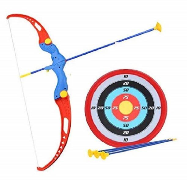 Devta Kids Bow and Arrow Archery Toy Set with Target Outdoor Garden Fun Game Bow & 3 Cup Suction Arrows Target Bows & Arrows