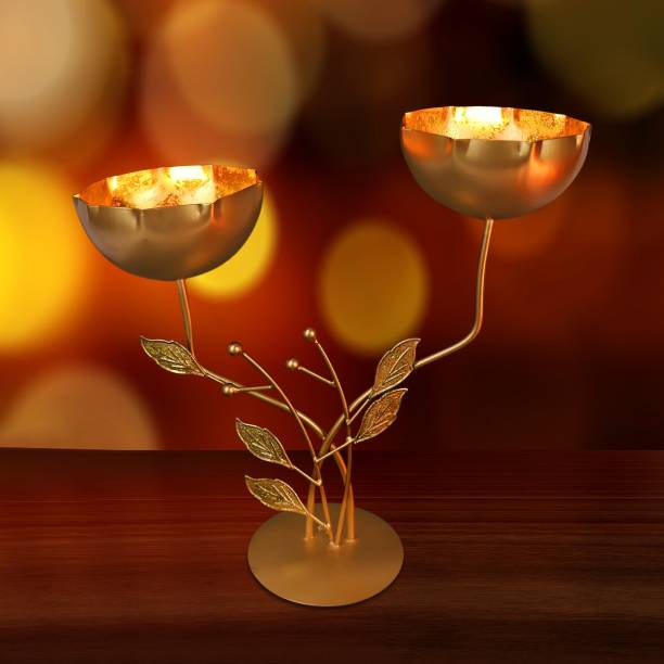 SET OF 4 STONE GREY CERAMIC TEA LIGHT HOLDERS INC 4 x TEA LIGHTS HOME DECOR GIFT