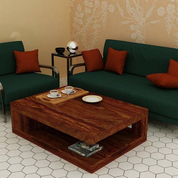 FURINNO Sheesham wood coffee table for Bed room, living room, balcony ,garden Solid Wood Coffee Table