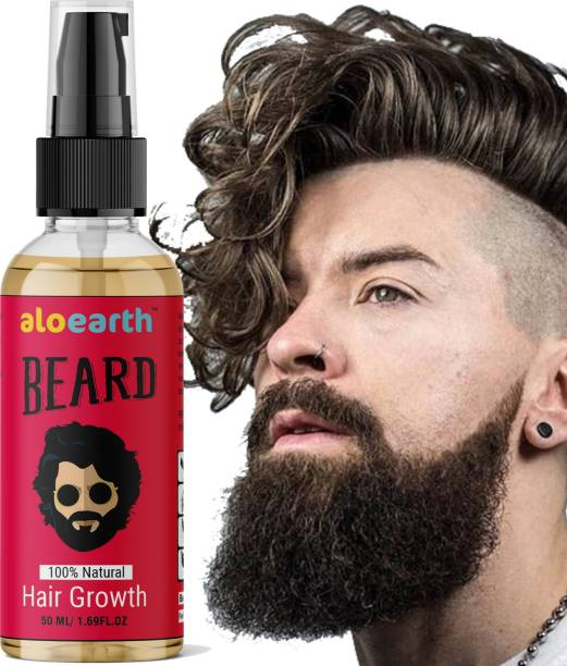 Aloearth Natural Beard Growth Oil With Natural Ingredients Hair Oil for man Hair Oil