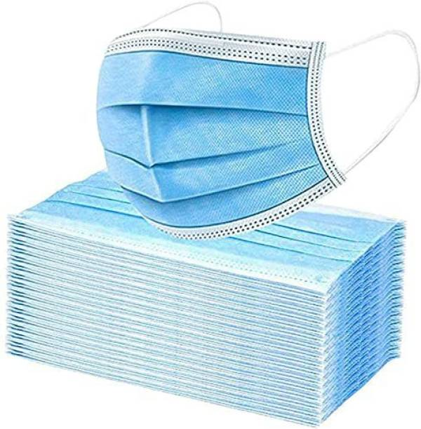 Enorgen Non-Woven Fabric Disposable Filter 3 Ply Dental ENSMBLUE-60 Surgical Mask With Melt Blown Fabric Layer