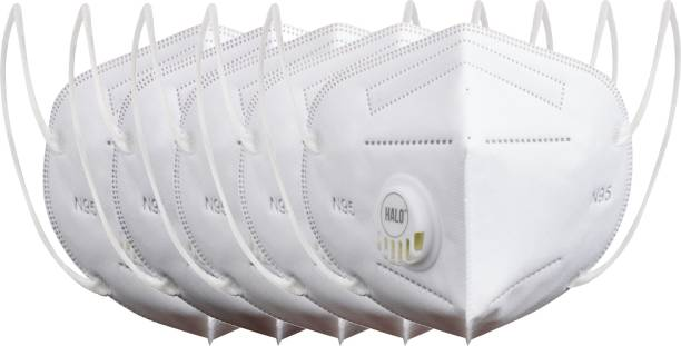 Halo N95 - 5 Layer Mask, Anti-Pollution With Breathing Valve (Pack of 5)