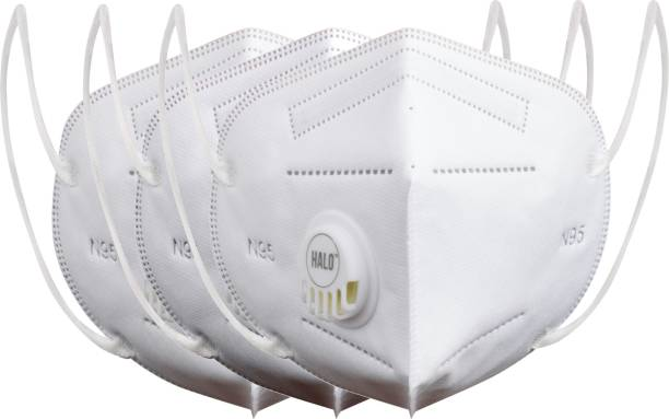 Halo N95 - 5 Layer Mask, Anti-Pollution With Breathing Valve (Pack of 3)