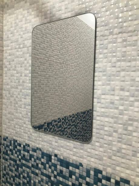 "windowera MAKEUP MIRROR, SHAVING MIRROR 8"" * 12"" inch, saint gobain/modiguard mirror, 3.5mm thick Bathroom Mirror"