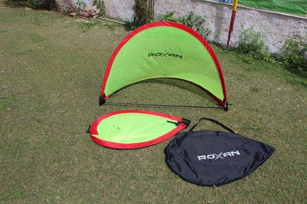 Roxan Portable Pop Up Soccer Goal - Two Portable Soccer Goals with Carry Bag Football Net
