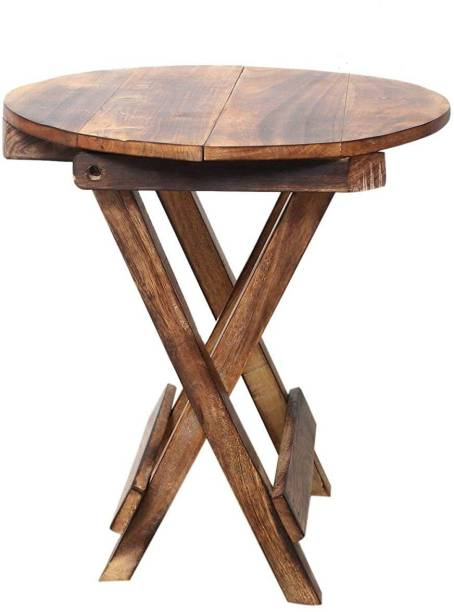 Smarts collection Antique Wooden Folding Stool Table ,side table .side stool ,end table ,corner table (12x12x12 inch) Solid Wood Side Table