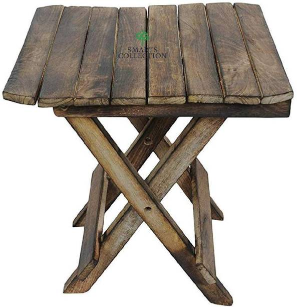 Smarts collection Antique Wooden Folding Stool (Antique | Mango Wood | Small Stool for Children) Solid Wood Side Table