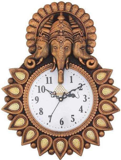 GrabBasket Analog 33 cm X 24 cm Wall Clock