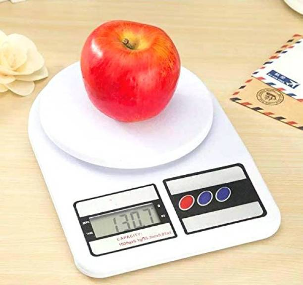 AMAZECARE Kitchen Scale Digital Electronic Compact Digital Kitchen Weighing Scale Balance Multi-purpose Weight Measuring Machine 1G x 10KG With Large LCD Display (Included 2AA Size Battery) Compact Kitchen Weighing Scale Weighing Scale