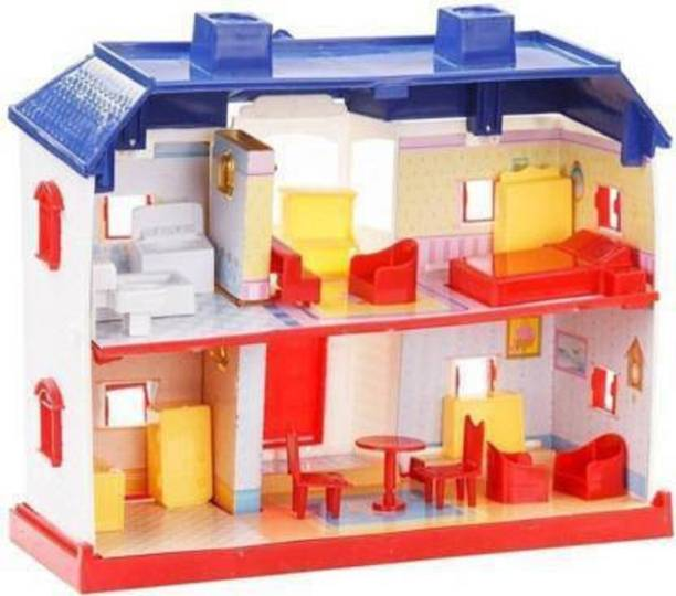 DHURVCOLLECTION 24 Pieces Beautiful Doll House Play Set For Kids
