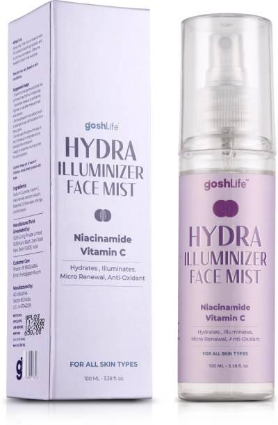 GoshLife Hydra Illuminizer Face Mist with Vitamin C, Niacinamide, Moringa for Skin Brightening, Collagen boost & Hydrates, 100ml