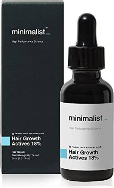 Minimalist 18% Hair Growth Actives Hair Serum | With Procapil, Capixyl, Redensyl, Anagain & Baicapil For Hair Fall Control & Hair Growth in Men & Women |