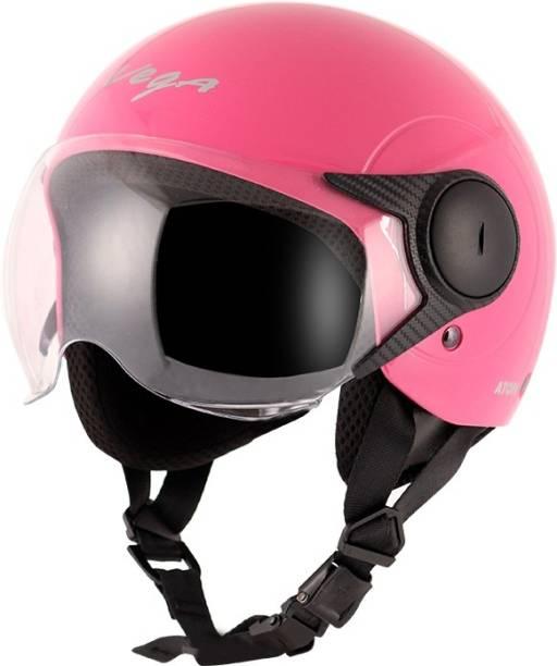 VEGA ATOM HI-UALITY OPEN FACE PINK 580 MM SIZE M Motorsports Helmet