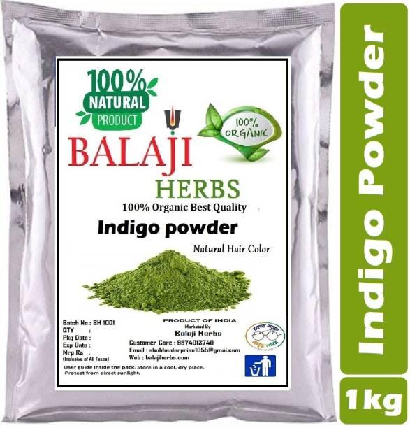 BALAJI HERBS Indigo Powder for Hair - Natural Black Dye, Anti-Dandruff & Hair Growth (1kg )