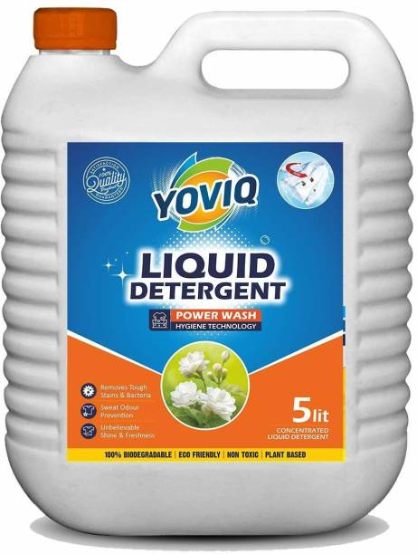 yoviq Liquid Detergent 5 Liter | Laundry Liquid for Fabric Care | Suitable for Top-Load and Front Load Machine | Deep Cleaning Concentrated Laundry Liquid Detergent Fresh Liquid Detergent
