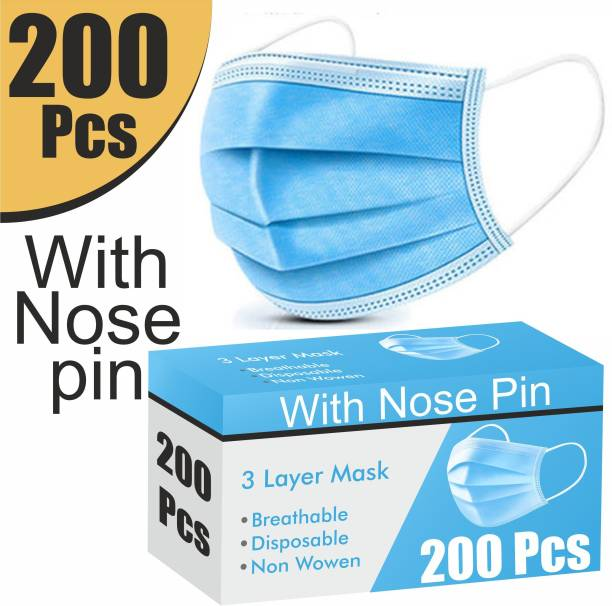 Re REDMOND ENTERPRISE 200 Piece Mask with Nose Pin 3 Layer Mask 3 Ply Mask Disposable Mask With Soft ear loop 200 Piece Mask with Nose Pin 3 Layer Mask 3 Ply Mask Disposable Mask With Soft ear loop Surgical Mask With Melt Blown Fabric Layer
