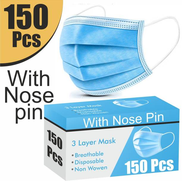 Re REDMOND ENTERPRISE 150 Piece Mask with Nose Pin 3 Layer Mask 3 Ply Mask Disposable Mask With Soft ear loop 150 Piece Mask with Nose Pin 3 Layer Mask 3 Ply Mask Disposable Mask With Soft ear loop Surgical Mask With Melt Blown Fabric Layer