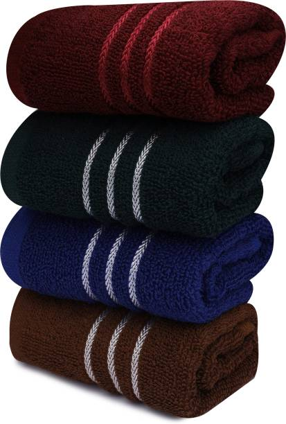 TOWN OF CLOTH hand towel 4 pcs solid best for kitchen purpose| gym| travelling etc. Multicolor Napkins