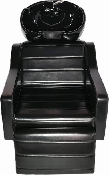 Jyoti SP-16 Full Black Shampoo Chair with Leg Rest