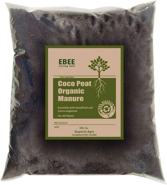 Ebee Cocopeat Compost with Living Soil Microbes Manure