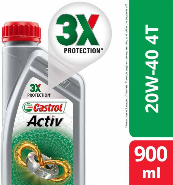 Castrol Activ 4T 20W-40 Petrol Synthetic Blend Engine Oil