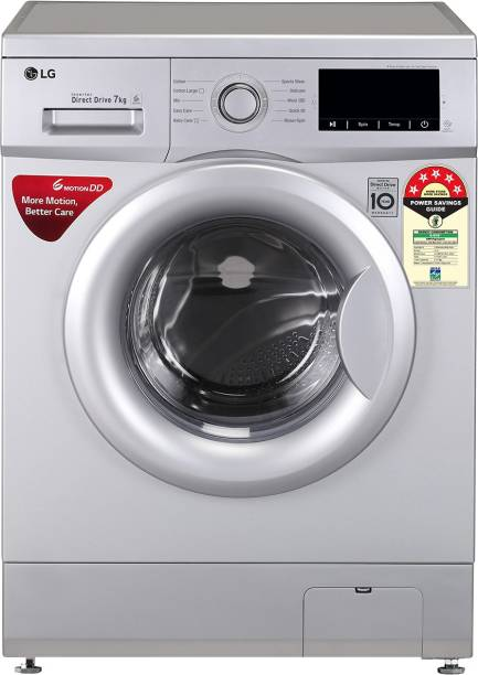 LG 7 kg Fully Automatic Front Load with In-built Heater Silver