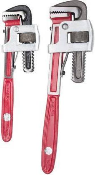 """DHATRI TOOLS Set of 2 (10""""14"""") Single Sided Pipe Wrench (Pack of 2)HEATY USEDVY DUR Single Sided Pipe Wrench"""