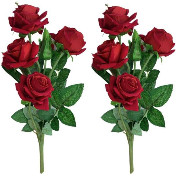EXOTICA Red Rose Artificial Flower Red Rose Artificial Flower