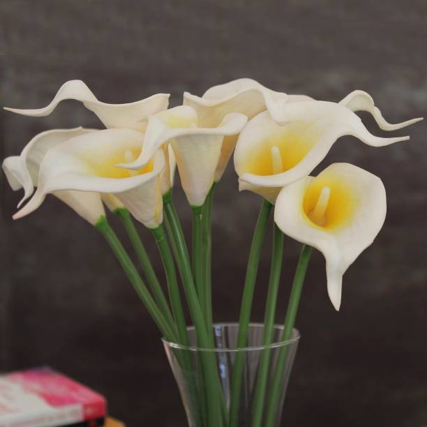 TIED RIBBONS White Callalily Artificial Flower
