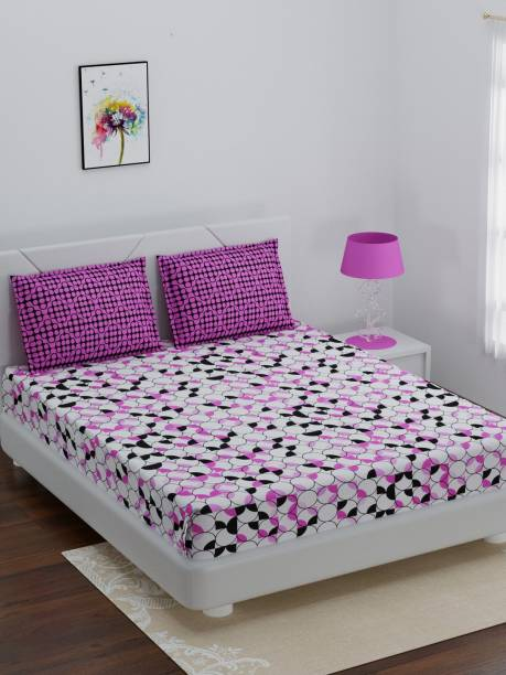 Bombay Dyeing 144 TC Cotton Double Geometric Bedsheet