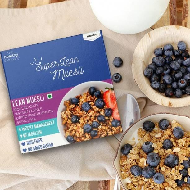 THE HEALTHY COMPANY by the healthy company Super Lean Muesli (300g x2)- Muesli, Cinnamon, Spirulina - Weight Loss, Diabetes, PCOD/PCOS & thyroid