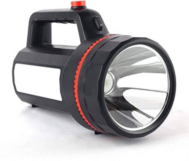 awza Long Range Search Light 100w Range 1 Km. with Multi-Functional and Blinker Rechargeable Lithium Battery Handheld Torch Torch Emergency Light