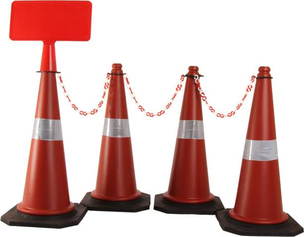 Ladwa Plain cones With Signplate - Pack of 4 Emergency Sign