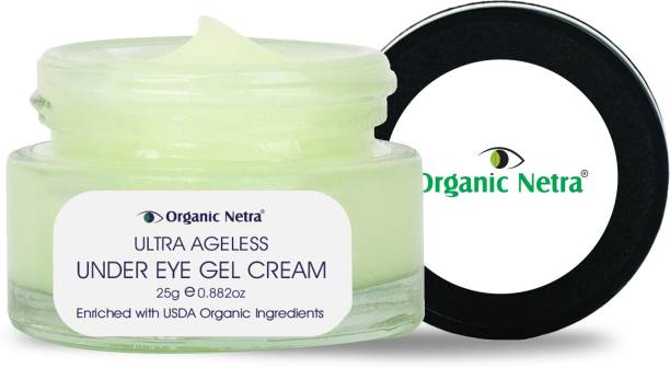 Organic Netra Ultra Ageless Under Eye Gel Cream – Anti-Aging Deep Under Eye Skincare Made with USDA Organic Ingredients for Dark Circles, Fine Lines, & Puffiness