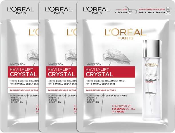 L'Oréal Paris Revitalift Crystal Micro-Essence Sheet Mask (Pack of 3) 162g