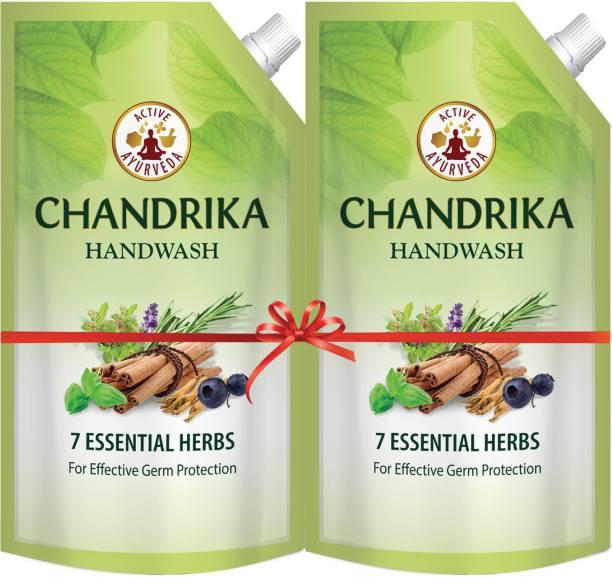 Chandrika 7 Essential Herbs Hand Wash Pouch