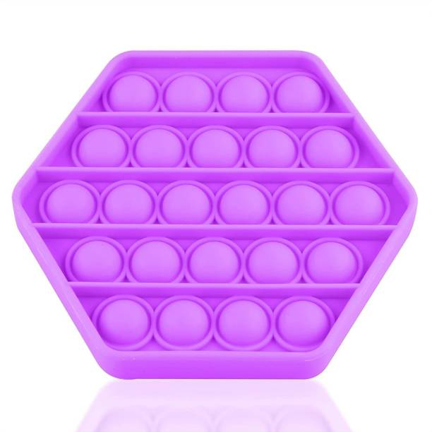 Zmeet Push pop Bubble Sensory Fidget Toy, Autism Special Needs Stress Reliever Silicone Stress Reliever Toy, Educational Toys ( Squre Purple )