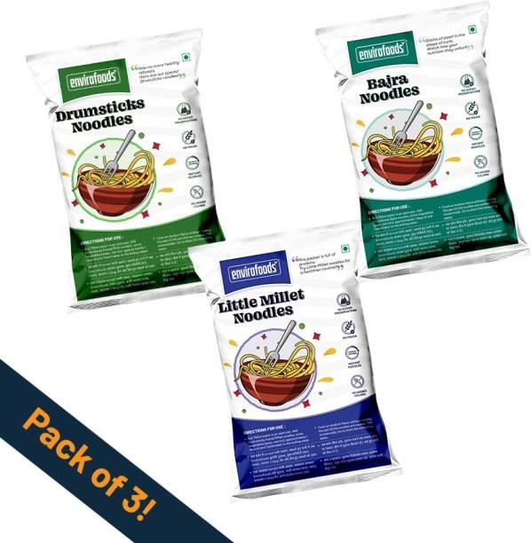 envirofoods Instant Noodles Pack of 3(Bajra, Drumsticks, Little Millet) Instant Noodles Vegetarian