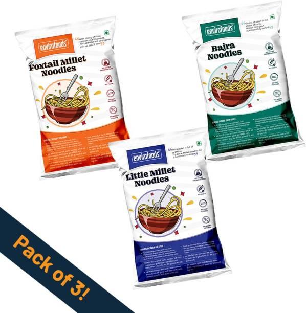 envirofoods Instant Noodles Pack of 3(Bajra, Foxtail Millet, Little Millet) Instant Noodles Vegetarian