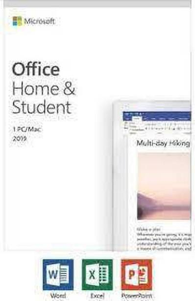 MICROSOFT Home and Student 2019, One-Time Purchase 2019 hour  Lifetime Validity, 1 Person, 1 PC or Mac, Classic Office Apps
