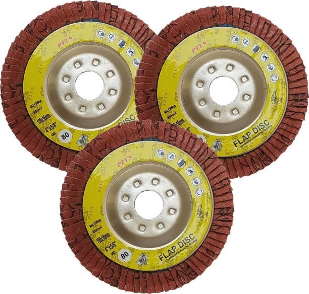 Qualigen High Quality 4inch 3pc Flap Wheel Set 80 Grit 100X16mm Metal Polisher
