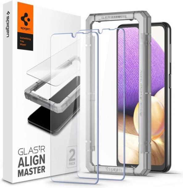 Spigen Tempered Glass Guard for Galaxy A02, Galaxy A02s, Galaxy A12, Galaxy M02, Galaxy M02s, Galaxy M12, Galaxy F12, Galaxy A32 5G