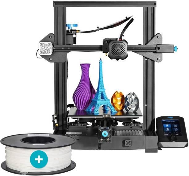Creality Ender-3 V2 2021 3D Printer + 3IDEA Premium PLA White Filament (1.75mm, 1Kg) - Combo Offer 3D Printer