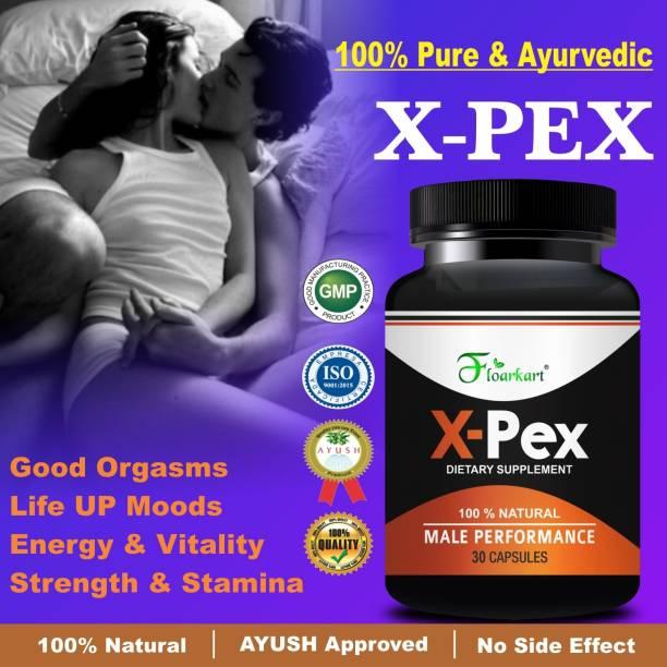Floarkart X Pex Herbal Capsules For Helps To Increasing The Sexual Timing 100% Ayurvedic